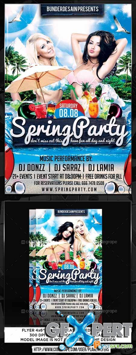 CodeGrape Spring Party Flyer 5449