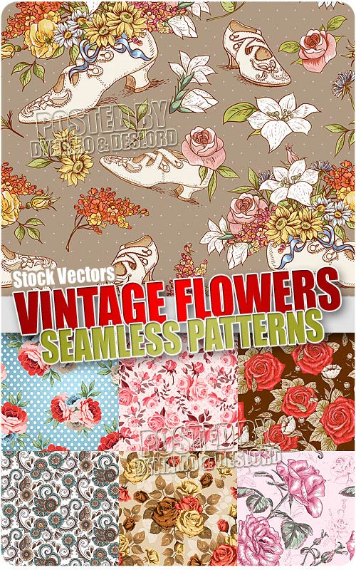 Vintage flowers patterns 2 - Stock Vectors