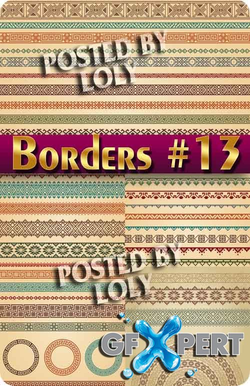 Vintage elements and borders #13  - Stock Vector