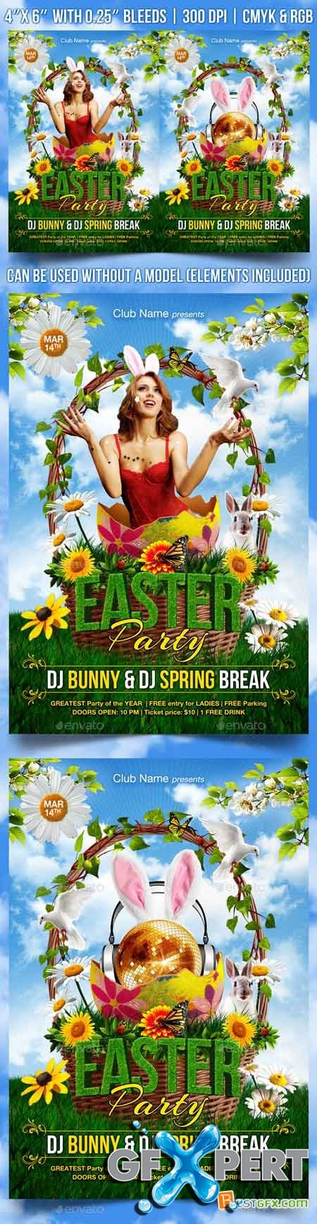 Graphicriver Easter Party Flyer Template 10531791
