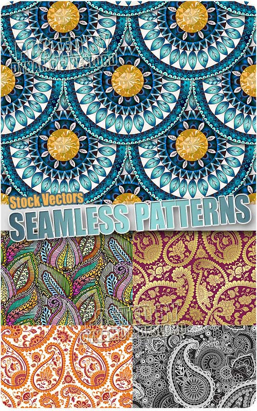 Seamless patterns - Stock Vectors