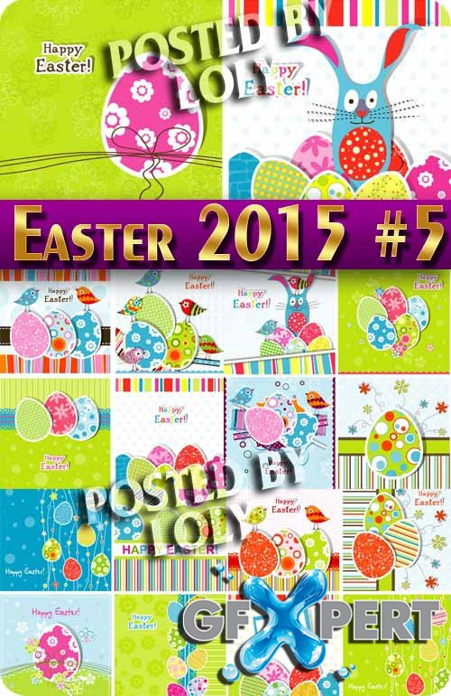 Easter 2015 #5 - Stock Vector