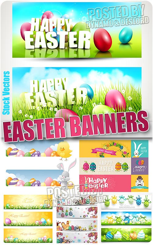 Easter banners  - Stock Vectors