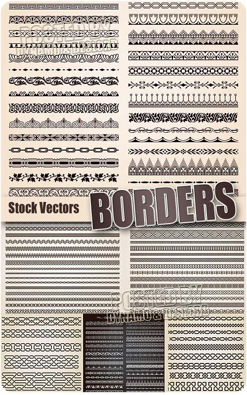Borders  - Stock Vectors