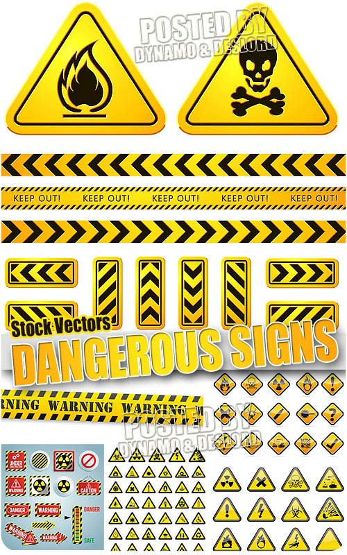 Danger signs  - Stock Vectors