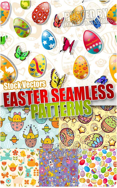 Easter seamless pattern - Stock Vectors