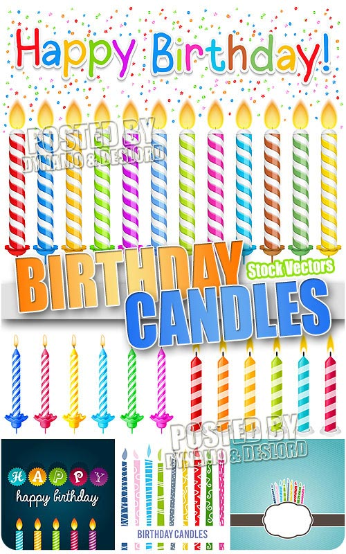 Birthday candles - Stock Vectors