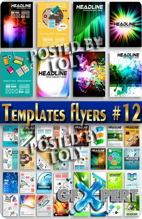 Flyer templates #12 - Stock Vector