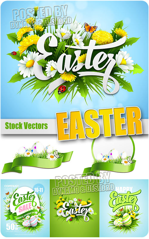 Easter 6 - Stock Vectors