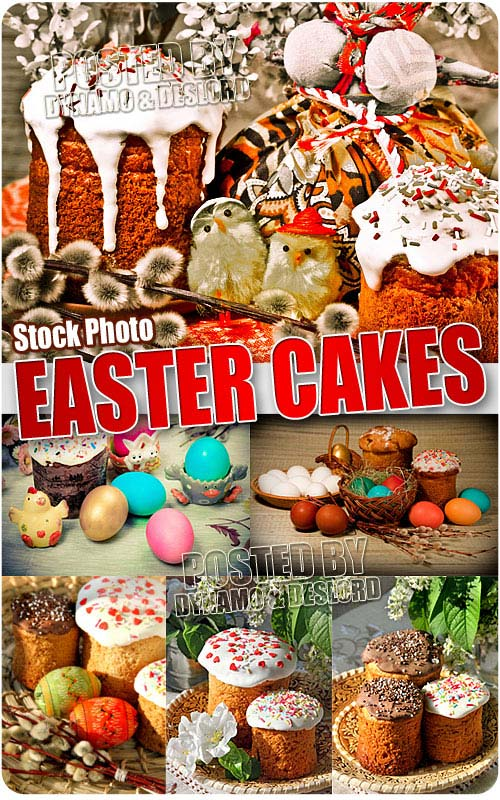 Easter cakes 4 - UHQ Stock Photo