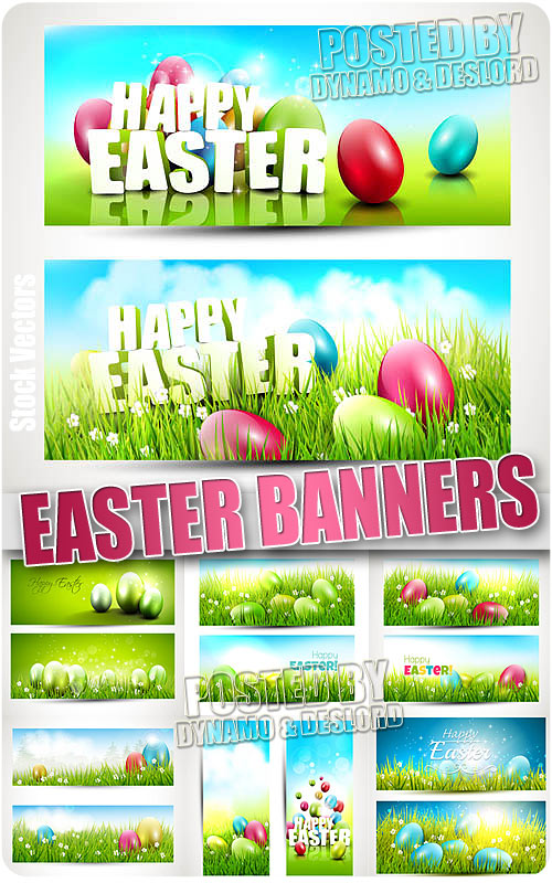 Easter banners 2 - Stock Vectors