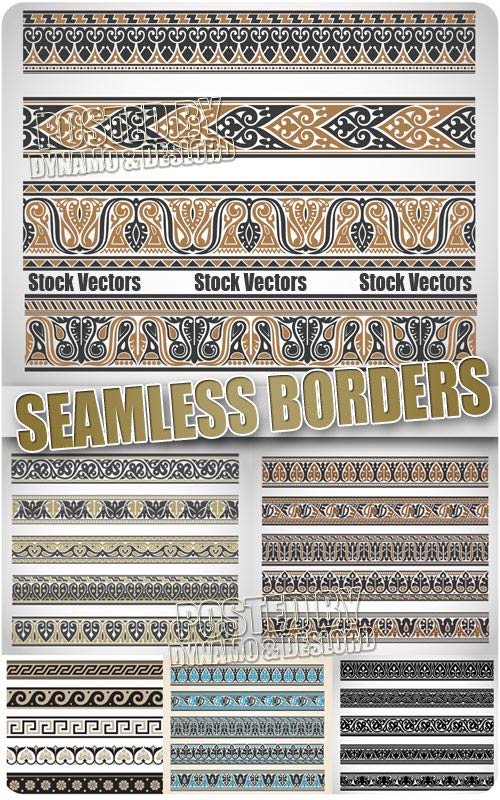 Seamless borders - Stock Vectors
