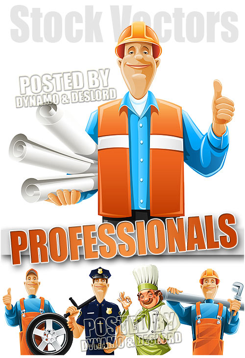 Professions cartoons - Stock Vectors