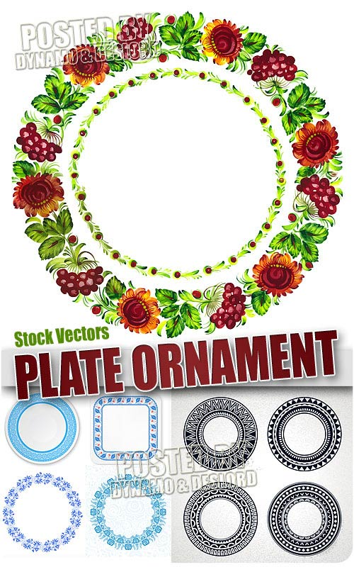 Plate's ornaments - Stock Vectors