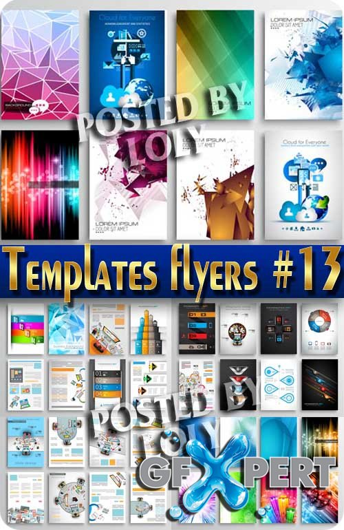 Flyer templates #13 - Stock Vector