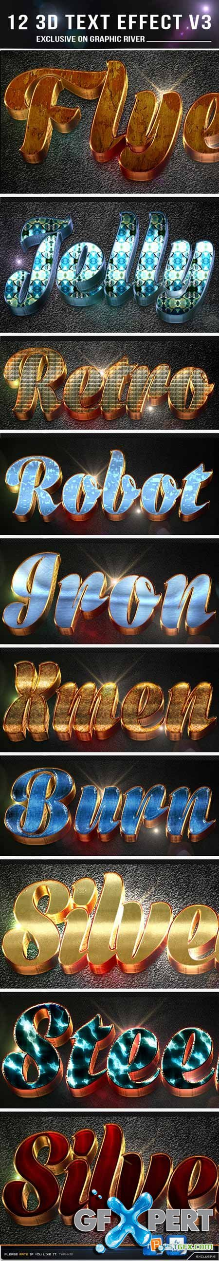 Graphicriver 12 3d Text Effect v3 10892169