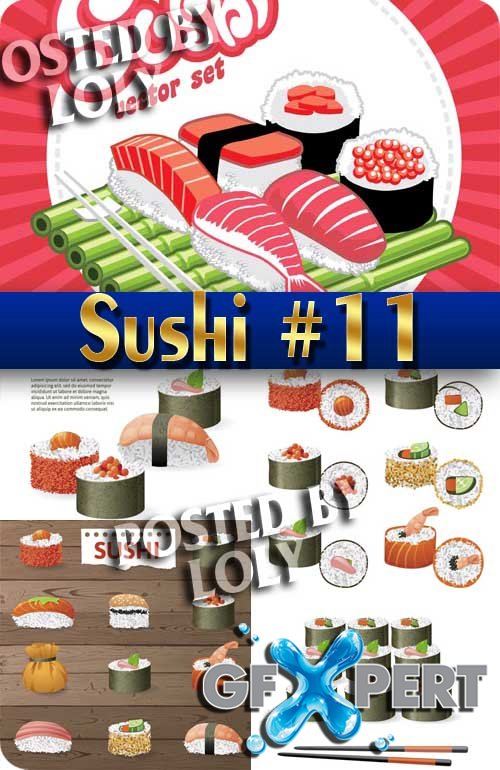 Sushi Menu #11 - Stock Vector