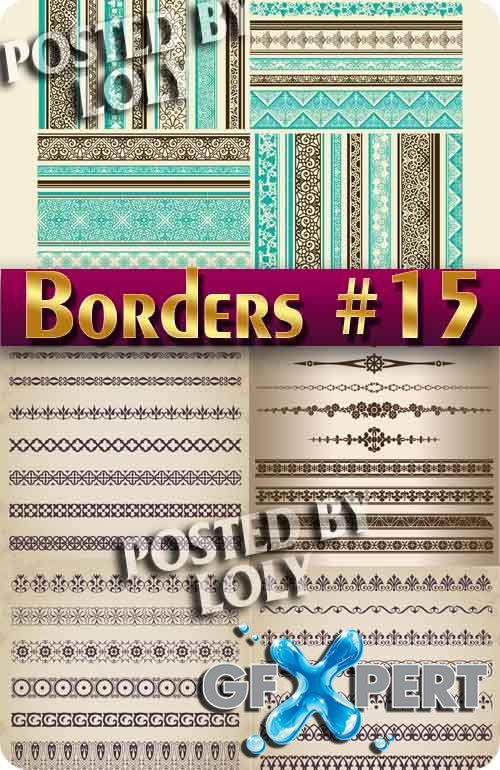 Vintage elements and borders #15 - Stock Vector