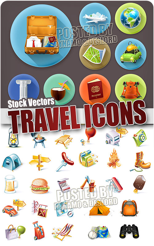 Travel icon - Stock Vectors