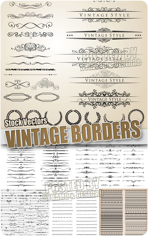 Vintage border 2 - Stock Vectors