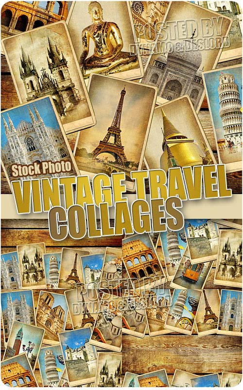 Vintage travel collage - UHQ Stock Photo