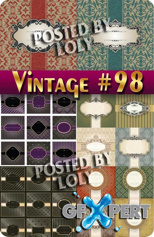 Vintage backgrounds #98 - Stock Vector