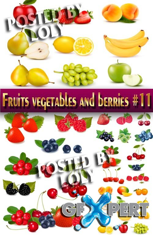Fruits, vegetables and berries #11 - Stock Vector