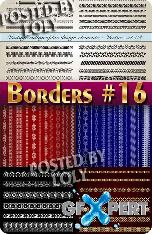 Vintage elements and borders #16 - Stock Vector