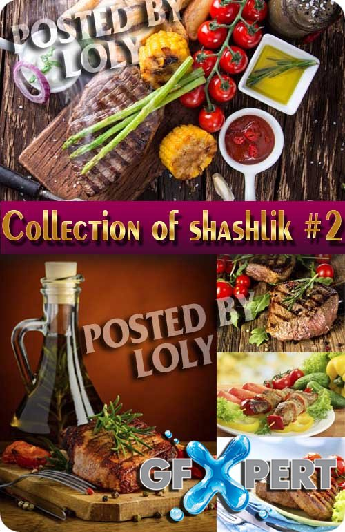 Food. Mega Collection. Barbecue and shashlik #2 - Stock Photo