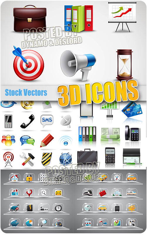 Icons 3d - Stock Vectors