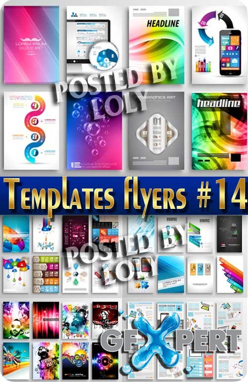 Flyer templates #14 - Stock Vector