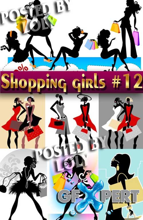 Shopping Girls #12 - Stock Vector