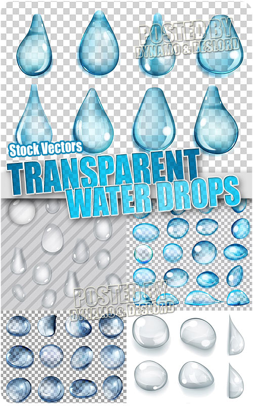 Transparent water drops - Stock Vectors