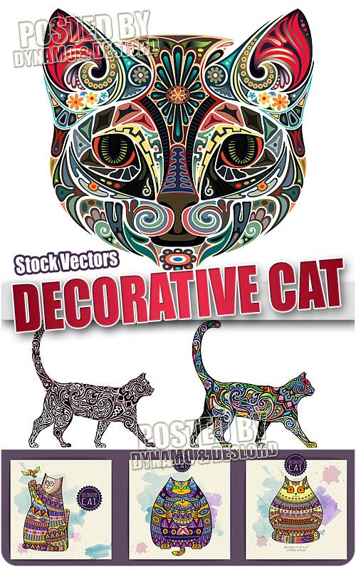 Decorative cat 2 - Stock Vectors
