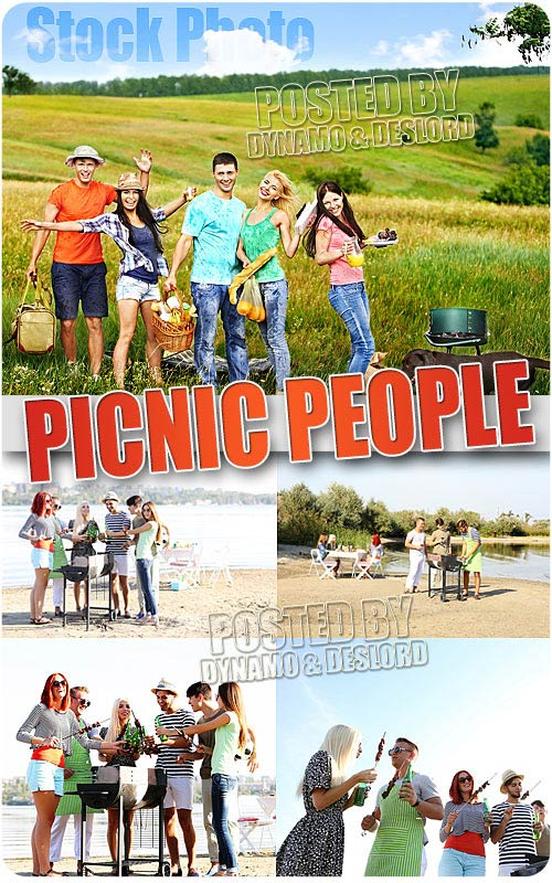 Picnic people - UHQ Stock Photo