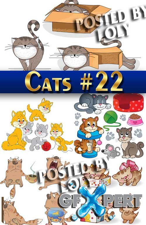 Wonderful kittens #22 - Stock Vector