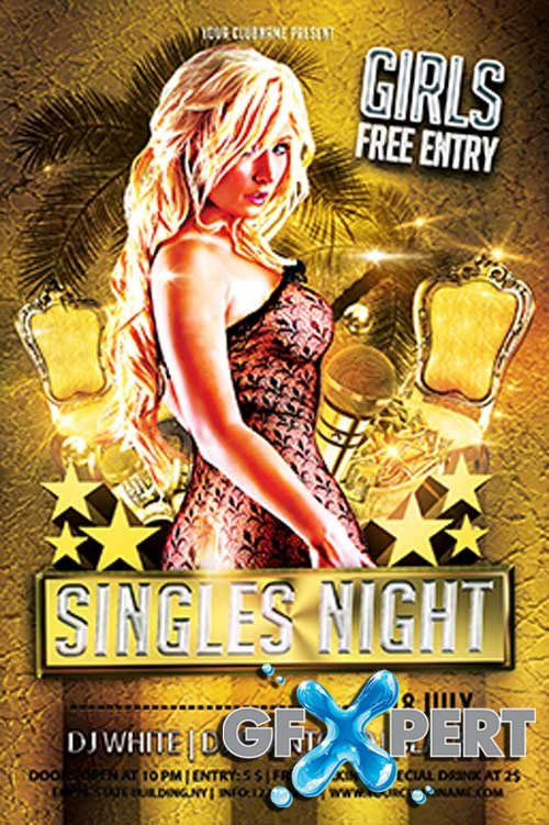 Singles Night Party Flyer