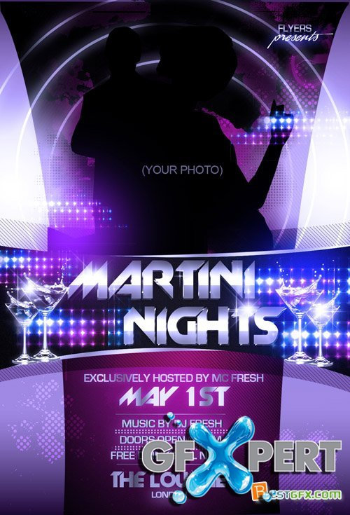 Flyer Template - Martini Nights PSD