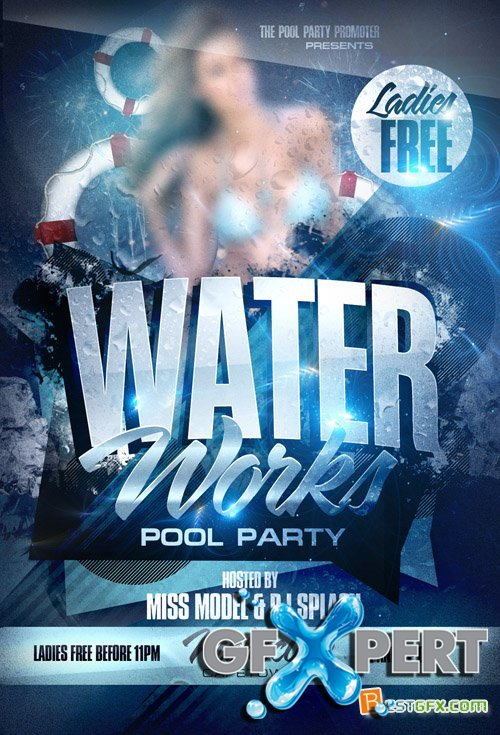 Flyer Template - Water Works Pool Party