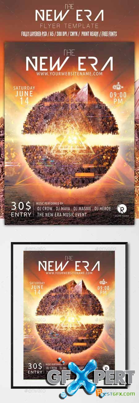 Graphicriver the new era flyer template 10935088