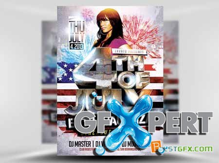 Creativemarket 4th July Flyer Template