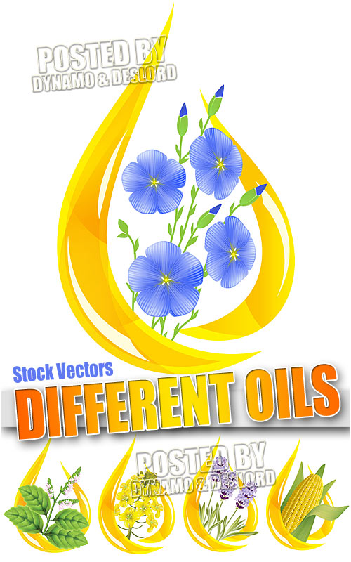 Differnt oil - Stock Vectors