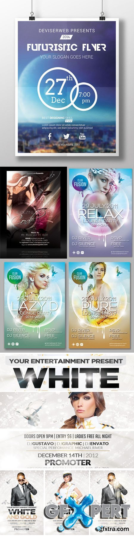 Collection of Poster/Flyer PSD Templates