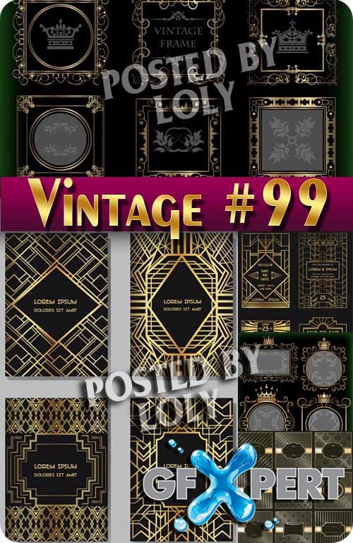 Vintage backgrounds #99 - Stock Vector