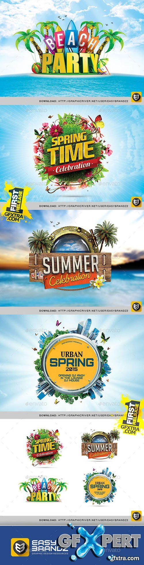 GraphicRiver Spring & Summer PSD Badges