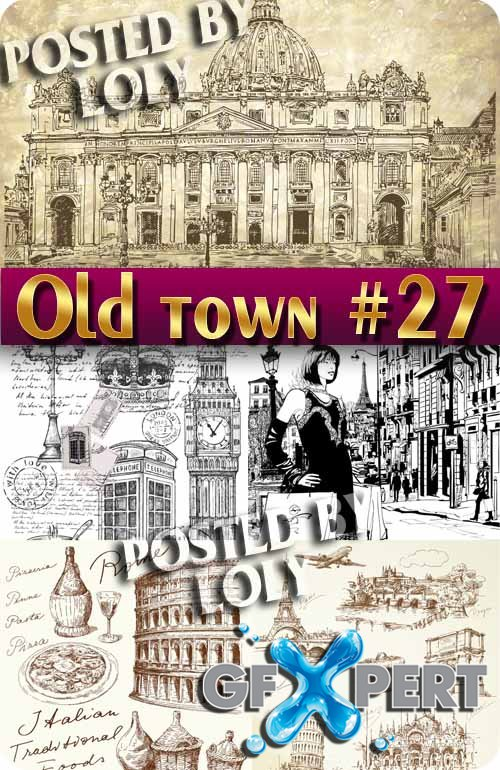 Old Town #27 - Stock Vector