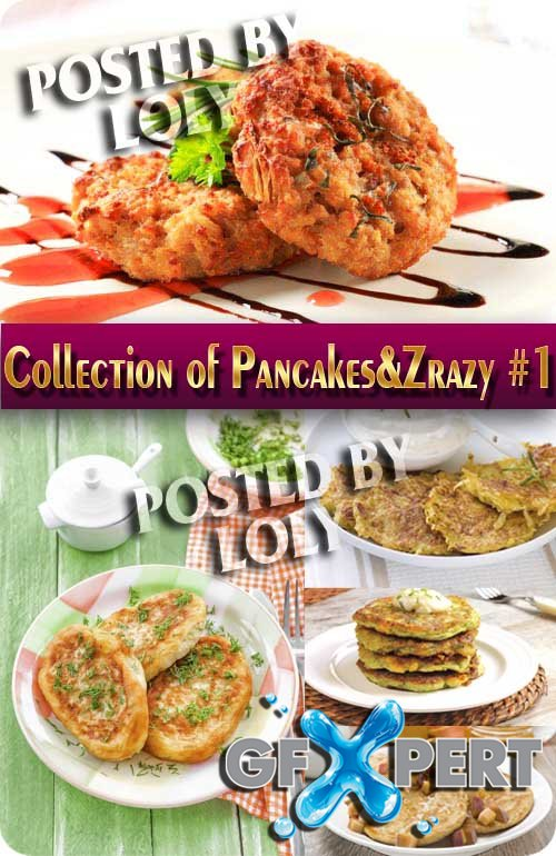 Food. Mega Collection. Pancakes and Zrazy # 1 - Stock Photo