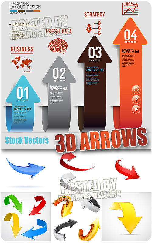 3D arrow - Stock Vectors
