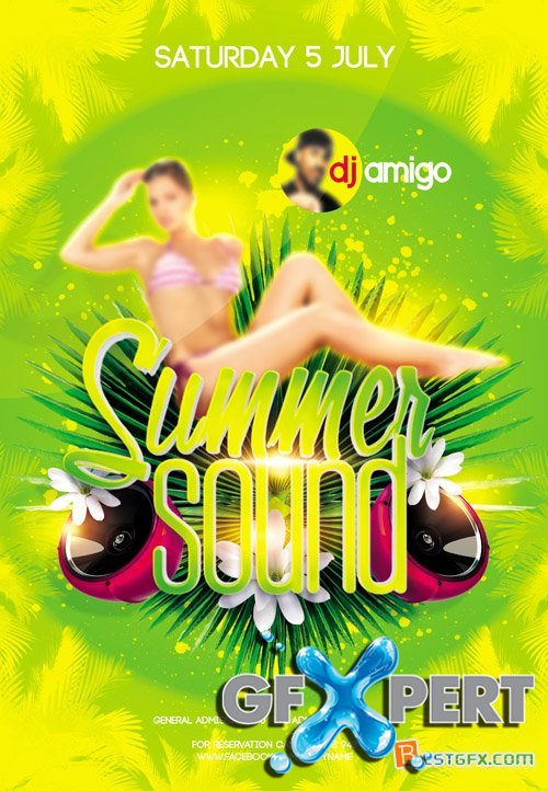 Flyer Template - Summer Sound Facebook Cover