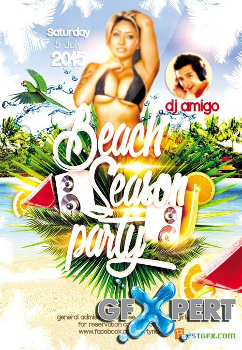 Flyer Template - Beach Season Facebook Cover